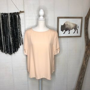 Antonio Melani 100% silk  peach blouse